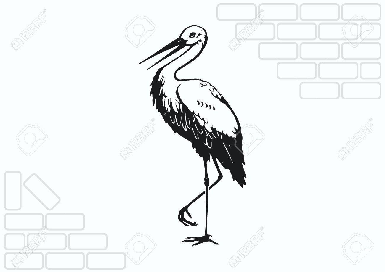 bird icon heron stork vector illustration royalty free cliparts rh 123rf com stork vector free stock vector