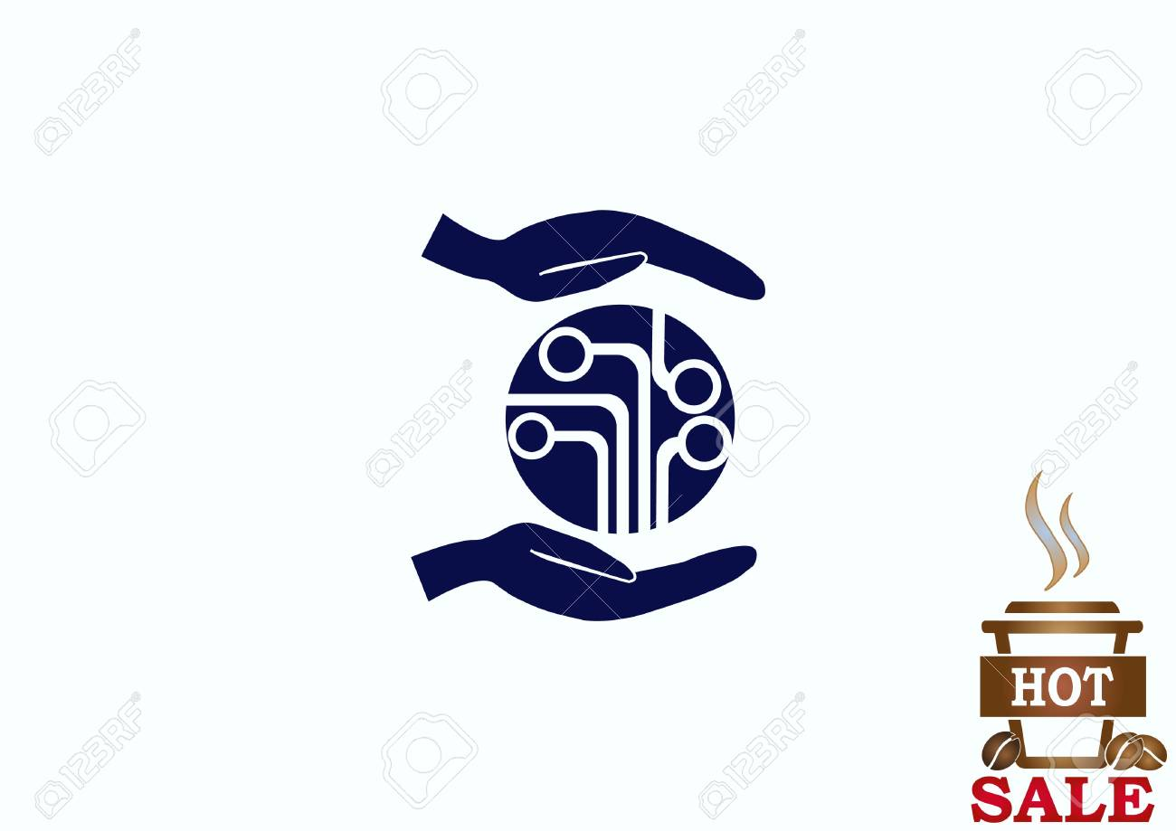 Circuit Board Technology Icon Vector Illustration Flat Design Boards With Clock Hands Royalty Free Stock Image Style 78525372
