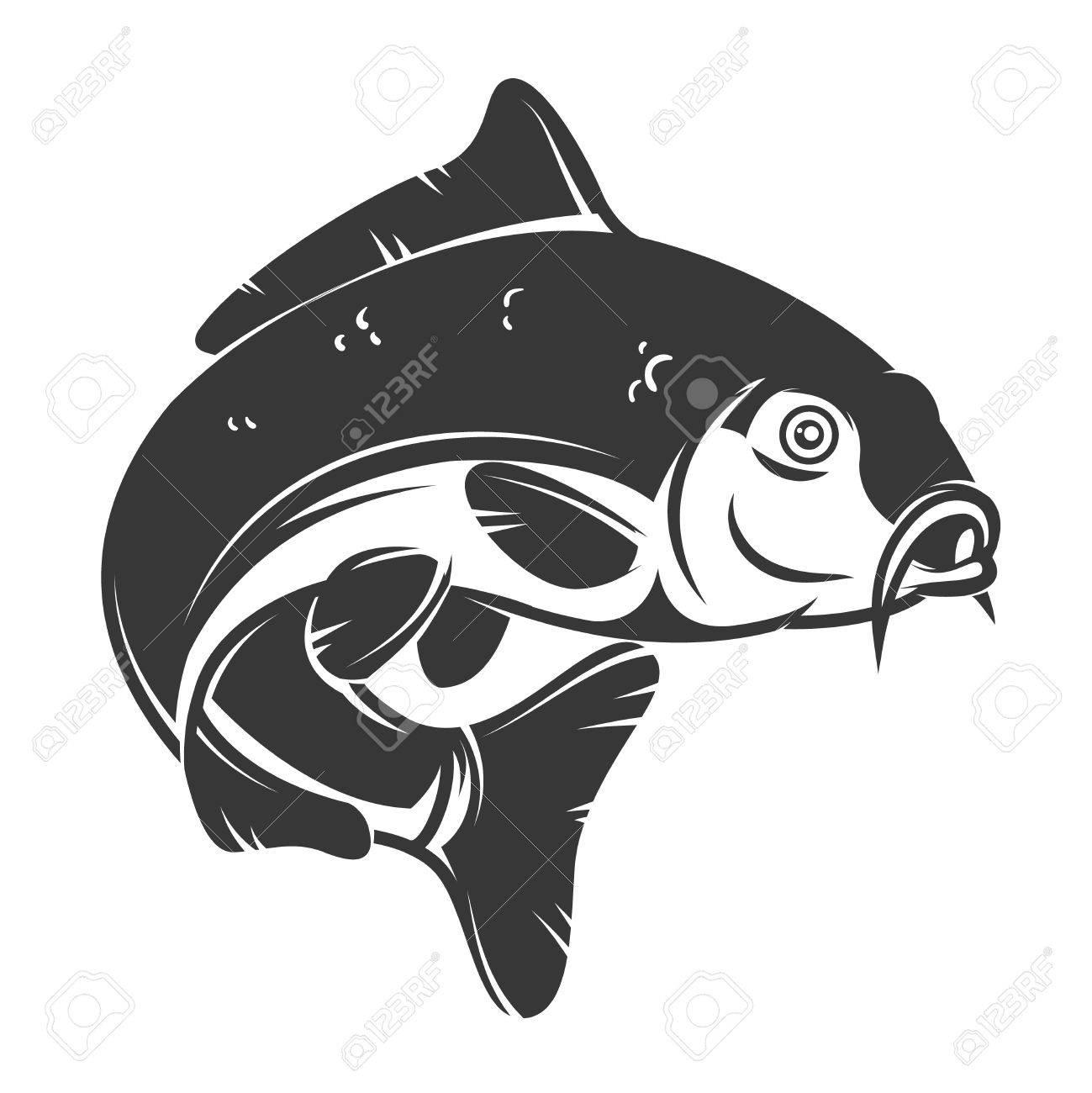 carp fish isolated on white background design element for logo rh 123rf com carp logo design carp logo