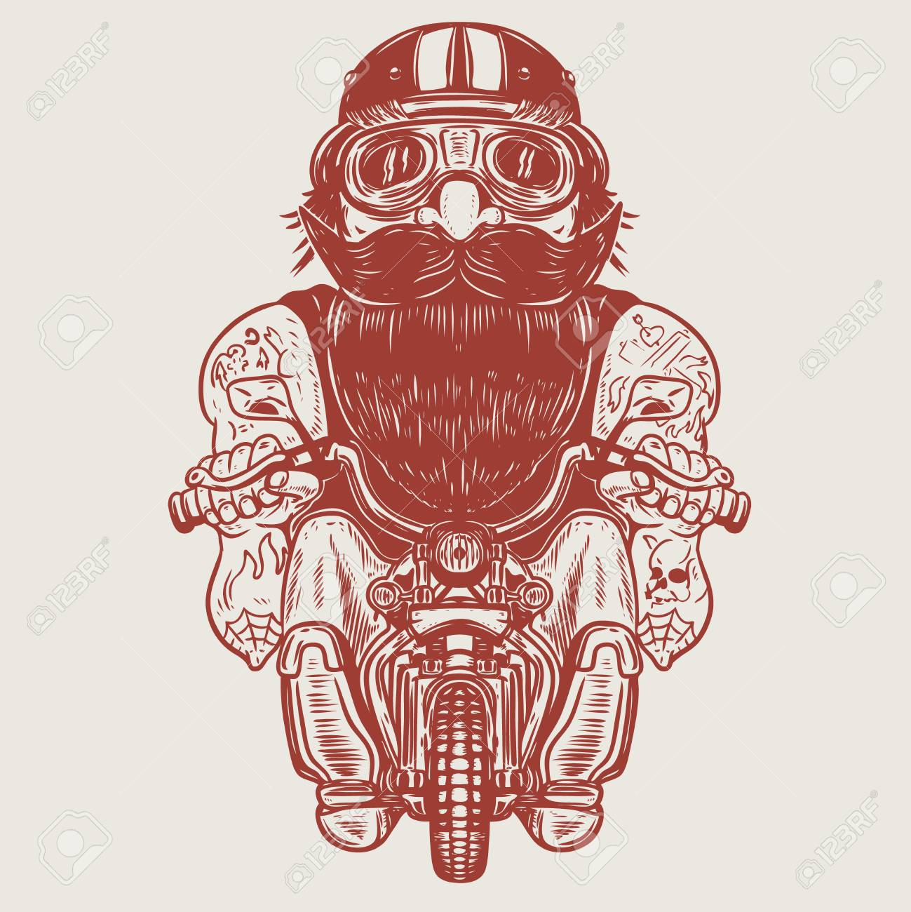 Caricature Drole De Motard Racer Sur Petite Moto Element De Design Pour Affiche T Shirt Carte Banniere Illustration Vectorielle Clip Art Libres De Droits Vecteurs Et Illustration Image 88311335