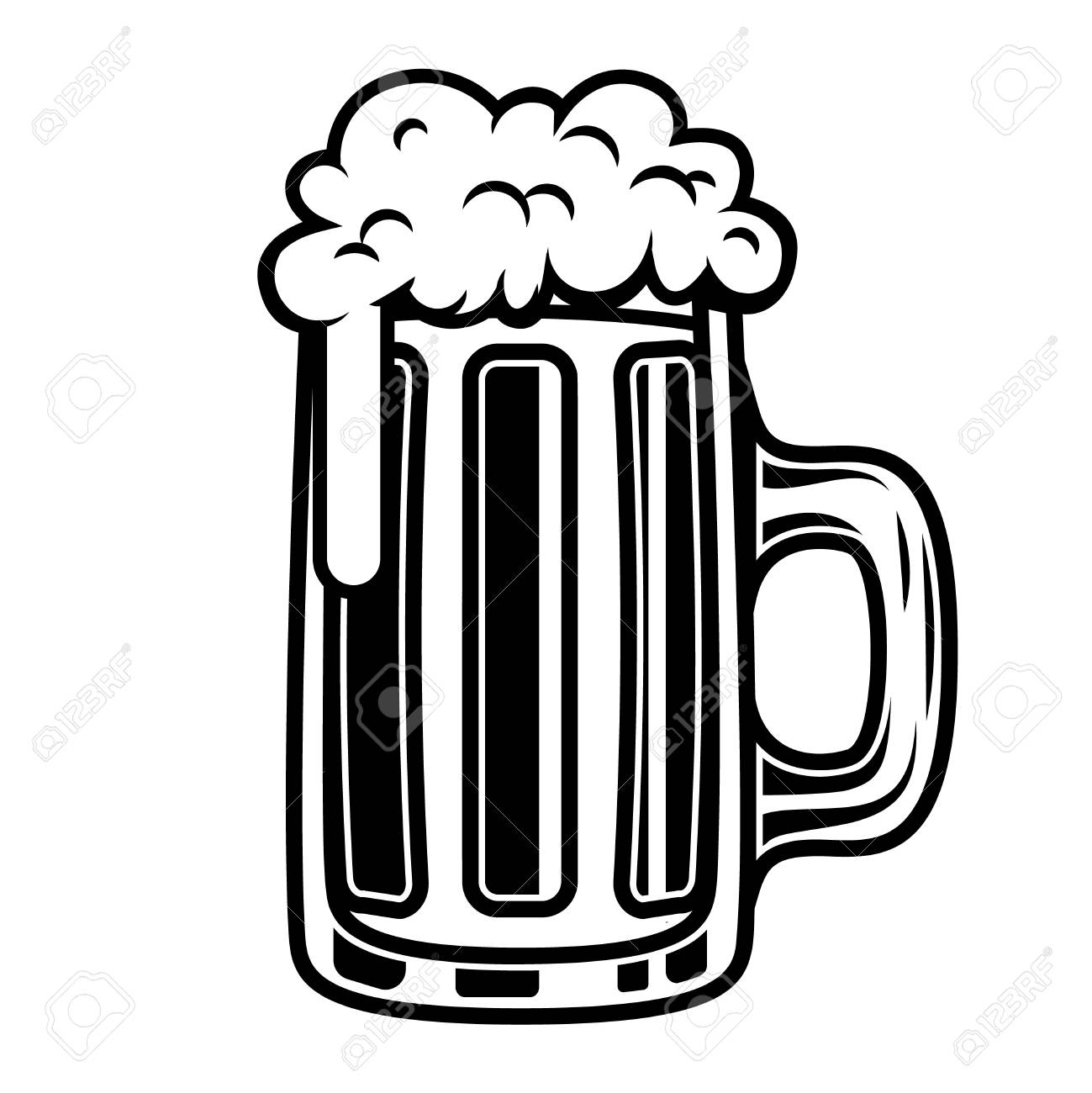 Beer Mug Illustration Isolated On White Background Design Element Royalty Free Cliparts Vectors And Stock Illustration Image 98541753