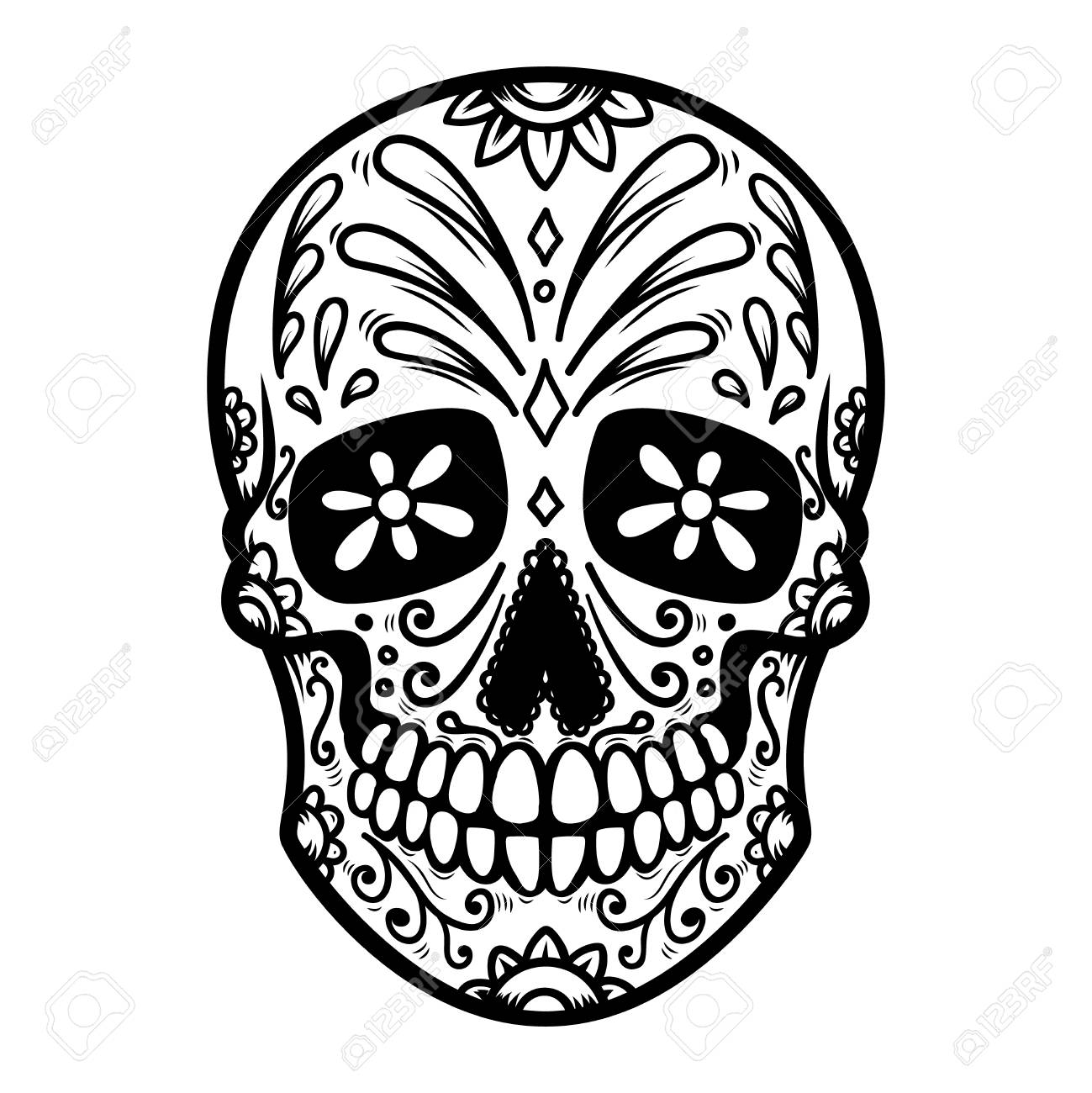 Illustration Of Mexican Sugar Skull Day Of The Dead Dia De Royalty Free Cliparts Vectors And Stock Illustration Image 108852594