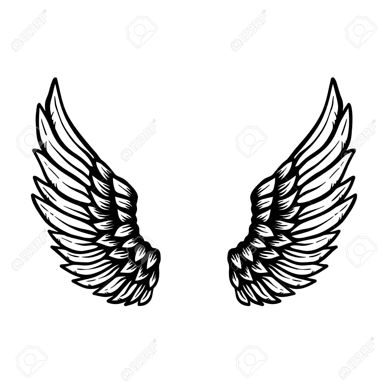 hand drawn eagle wings illustration isolated on white background royalty free cliparts vectors and stock illustration image 108730628 hand drawn eagle wings illustration isolated on white background