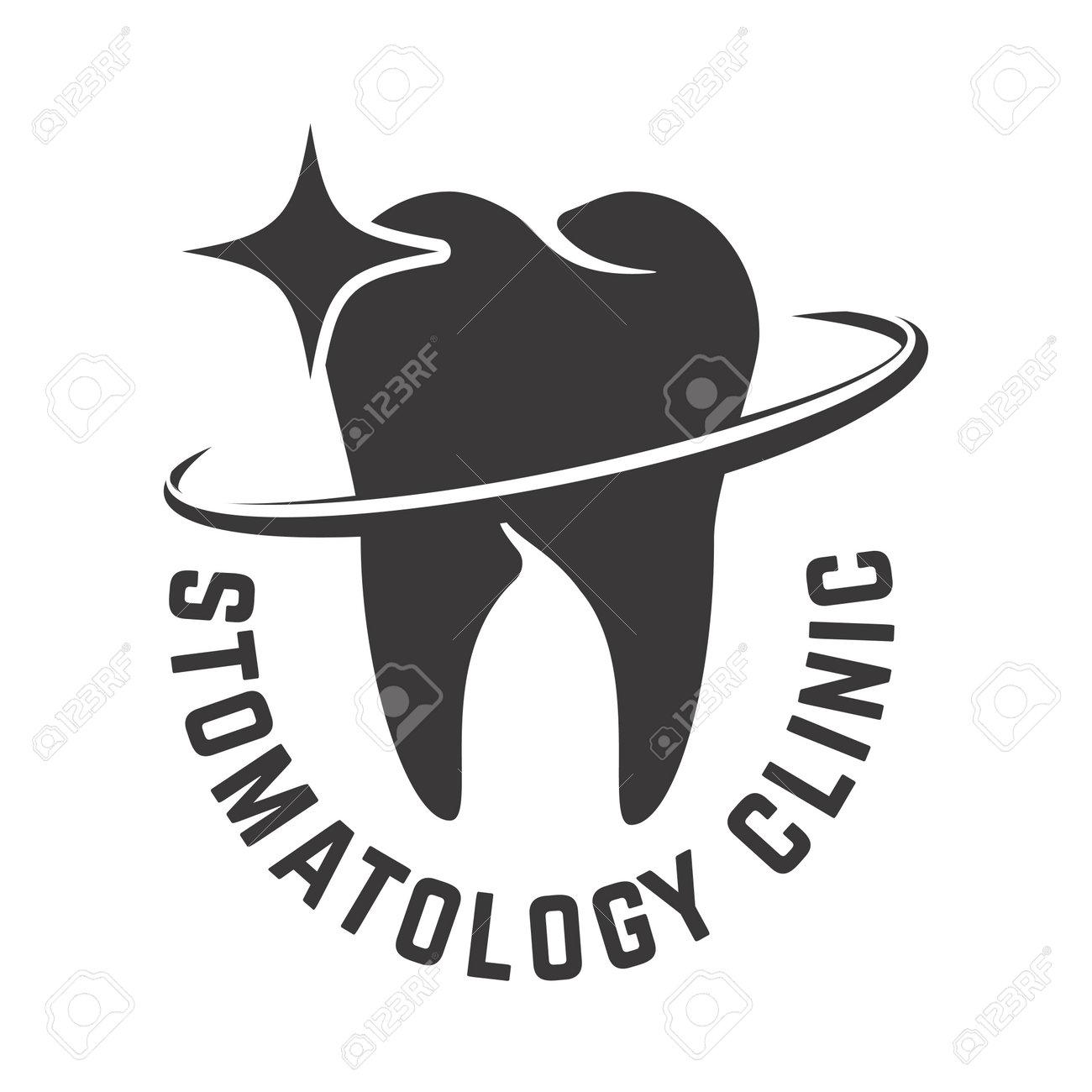 Dental clinic emblem template. Design element for poster, card, banner, sign. Vector illustration - 171212930