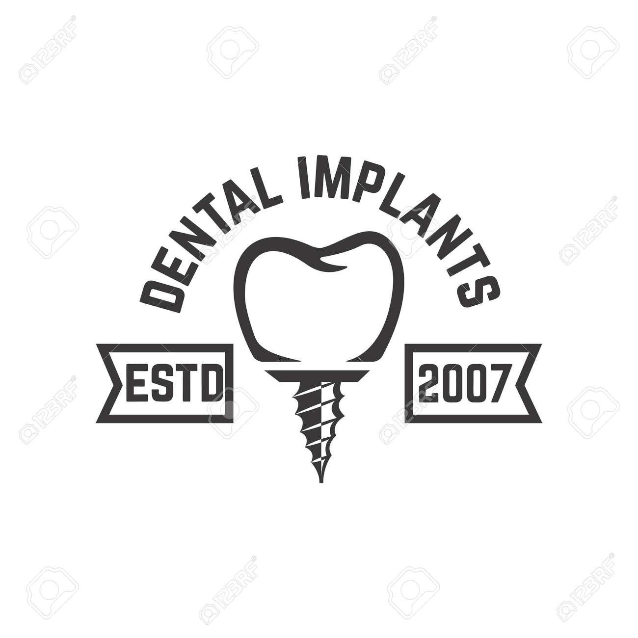 Dental clinic emblem template. Design element for poster, card, banner, sign. Vector illustration - 171625089