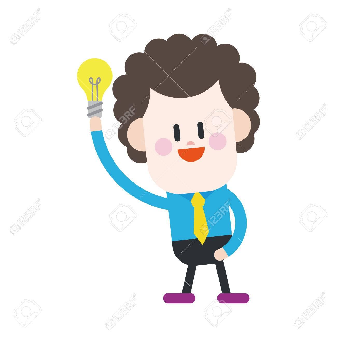 Ilustración Diseño De Personajes Hombre De Negocios Pensando