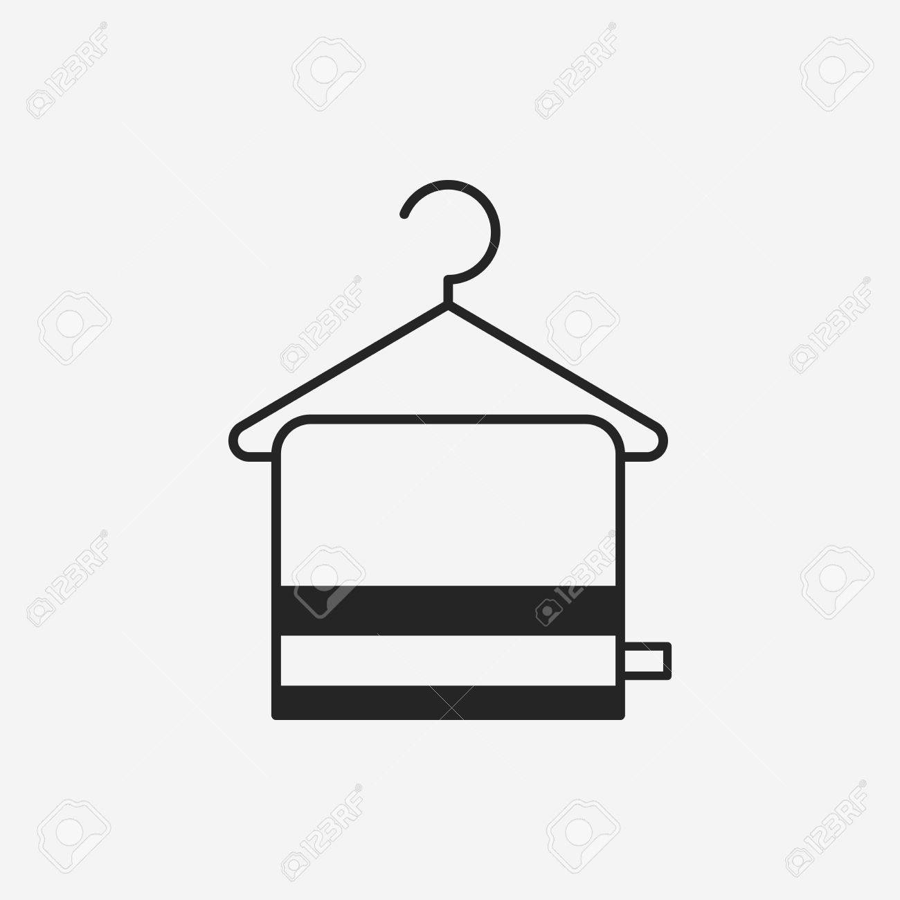 Towel Hanger Towel Hanger Icon Royalty Free Cliparts Vectors And Stock