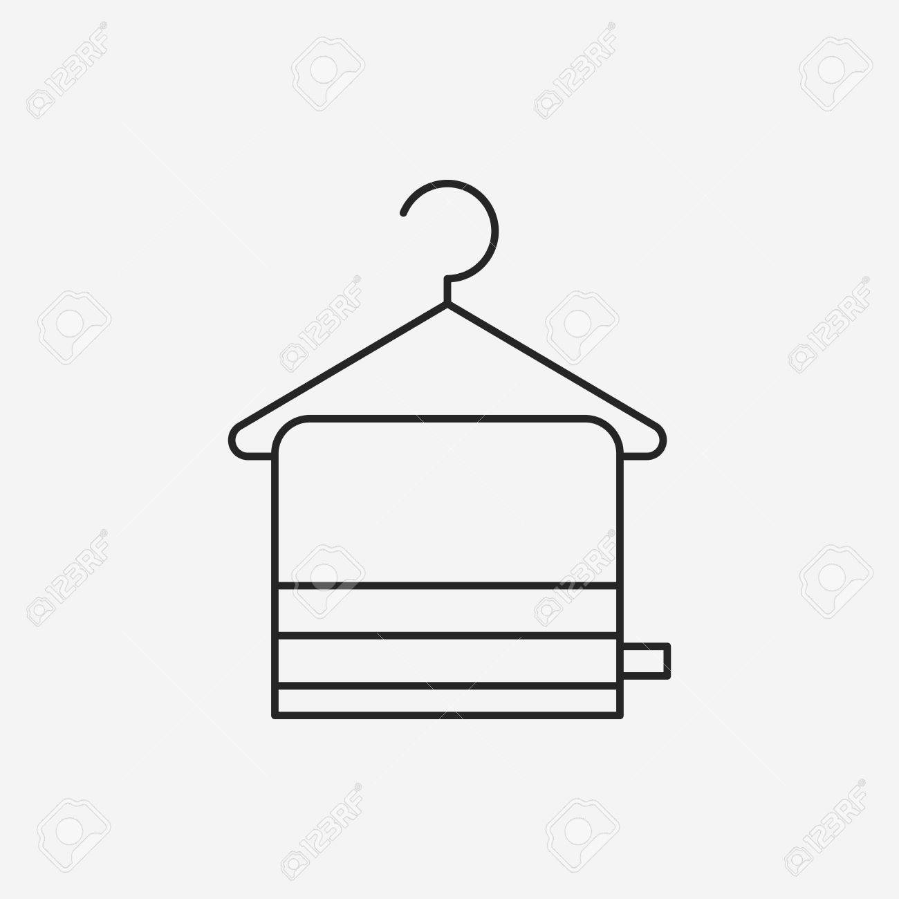 Towel Hanger Towel Hanger Line Icon Royalty Free Cliparts Vectors And Stock