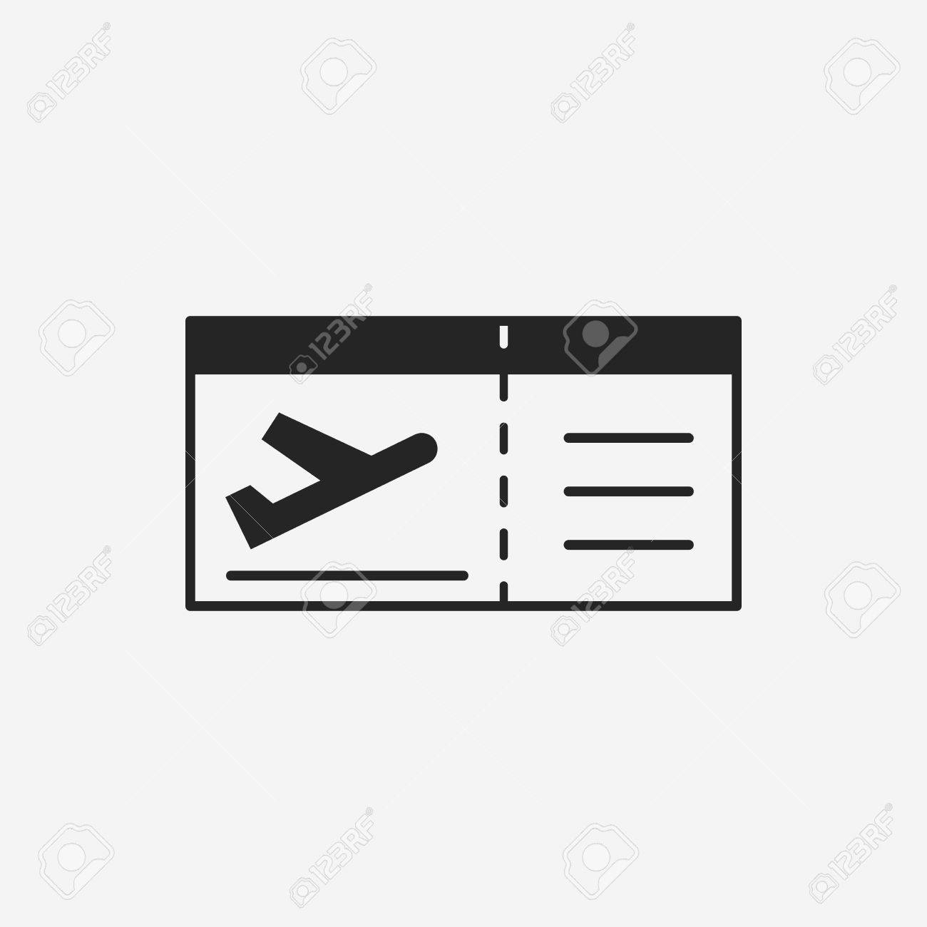 Air Ticket Icon Stock Vector