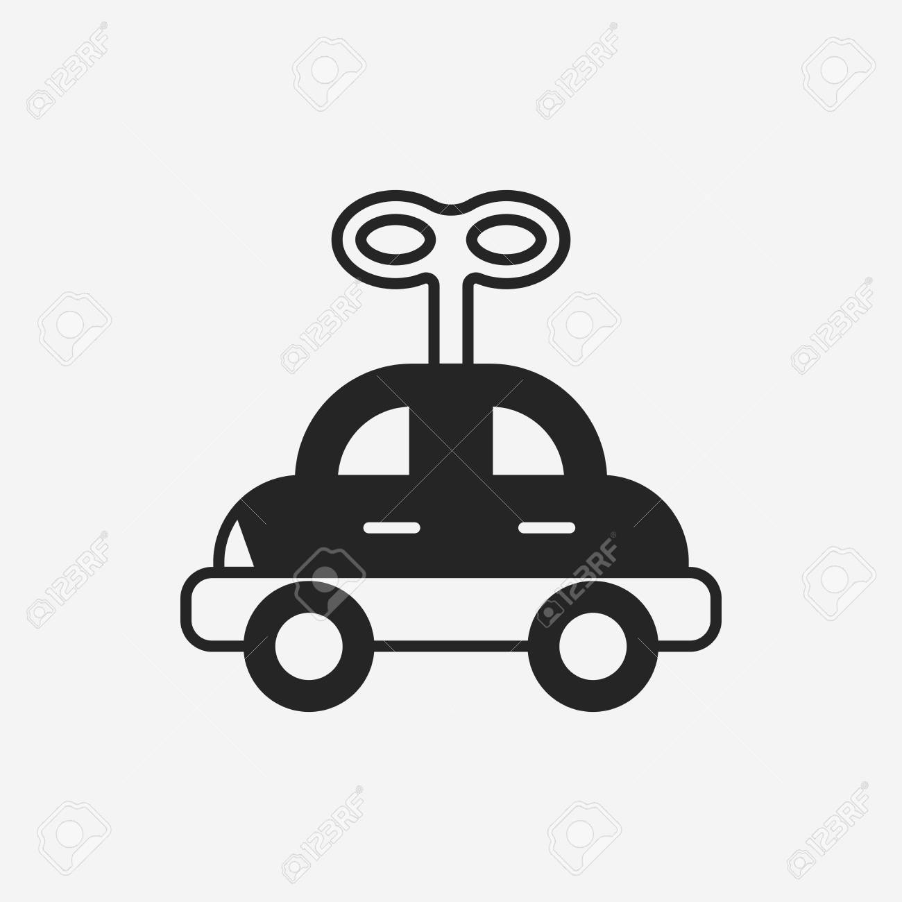 Baby Toy Car Icon Royalty Free Cliparts Vectors And Stock