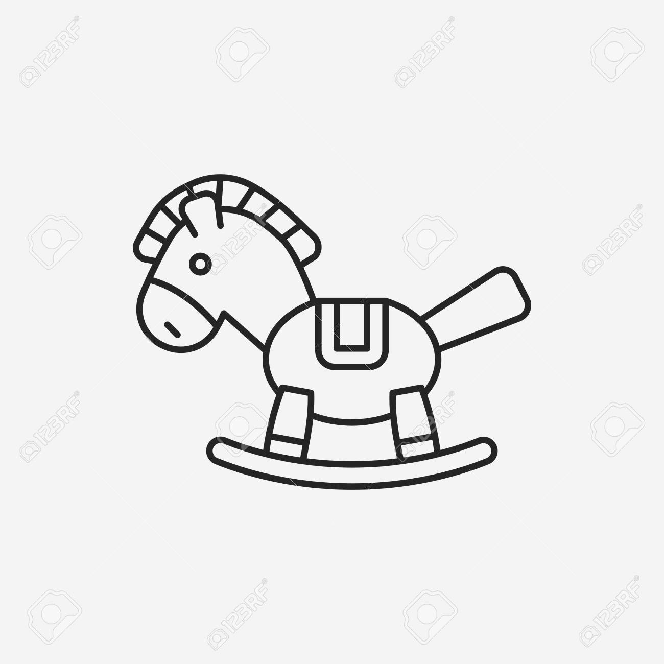 Baby Toy Horse Line Icon Royalty Free Cliparts Vectors And Stock Illustration Image 40650473