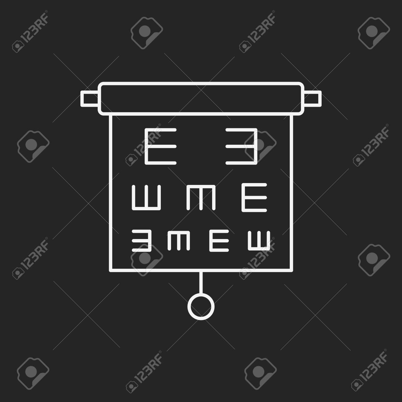 Eye Chart Line Icon Royalty Free Cliparts Vectors And Stock
