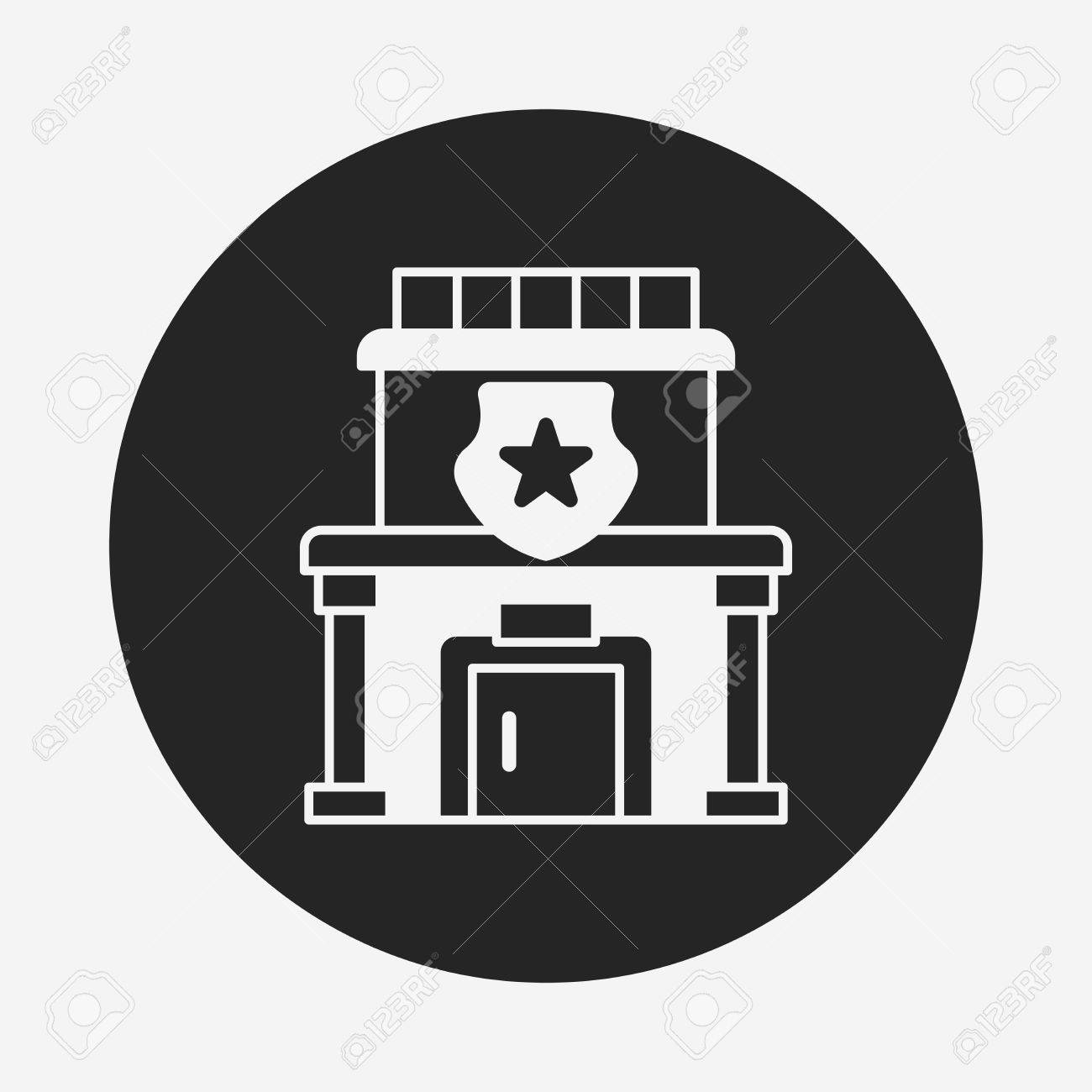 Police Station Icon Royalty Free Cliparts Vectors And Stock