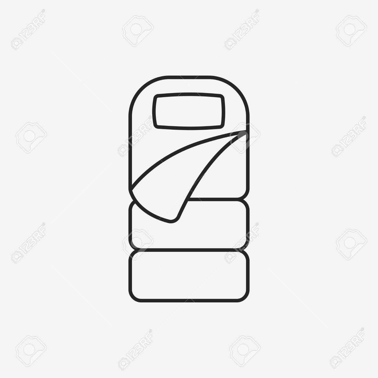 Sleeping Bag Line Icon Stock Vector