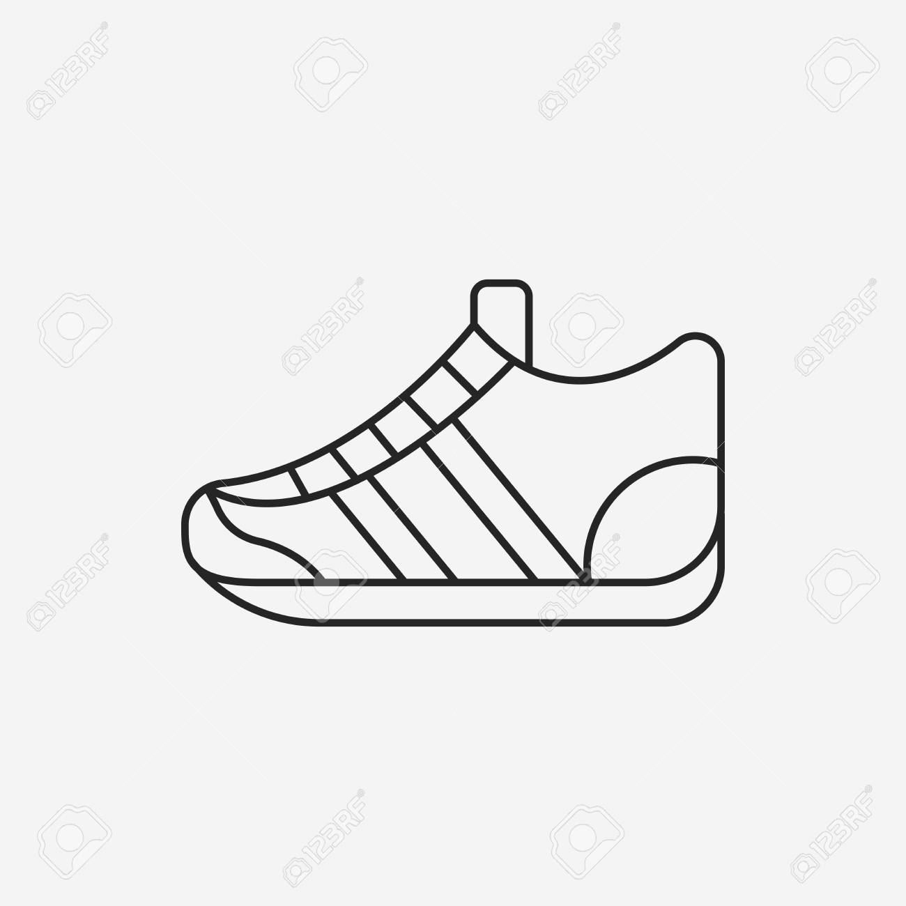 Sneaker Stock ClipartsVectorsAnd Icon Royalty Line Free vm0OnN8w