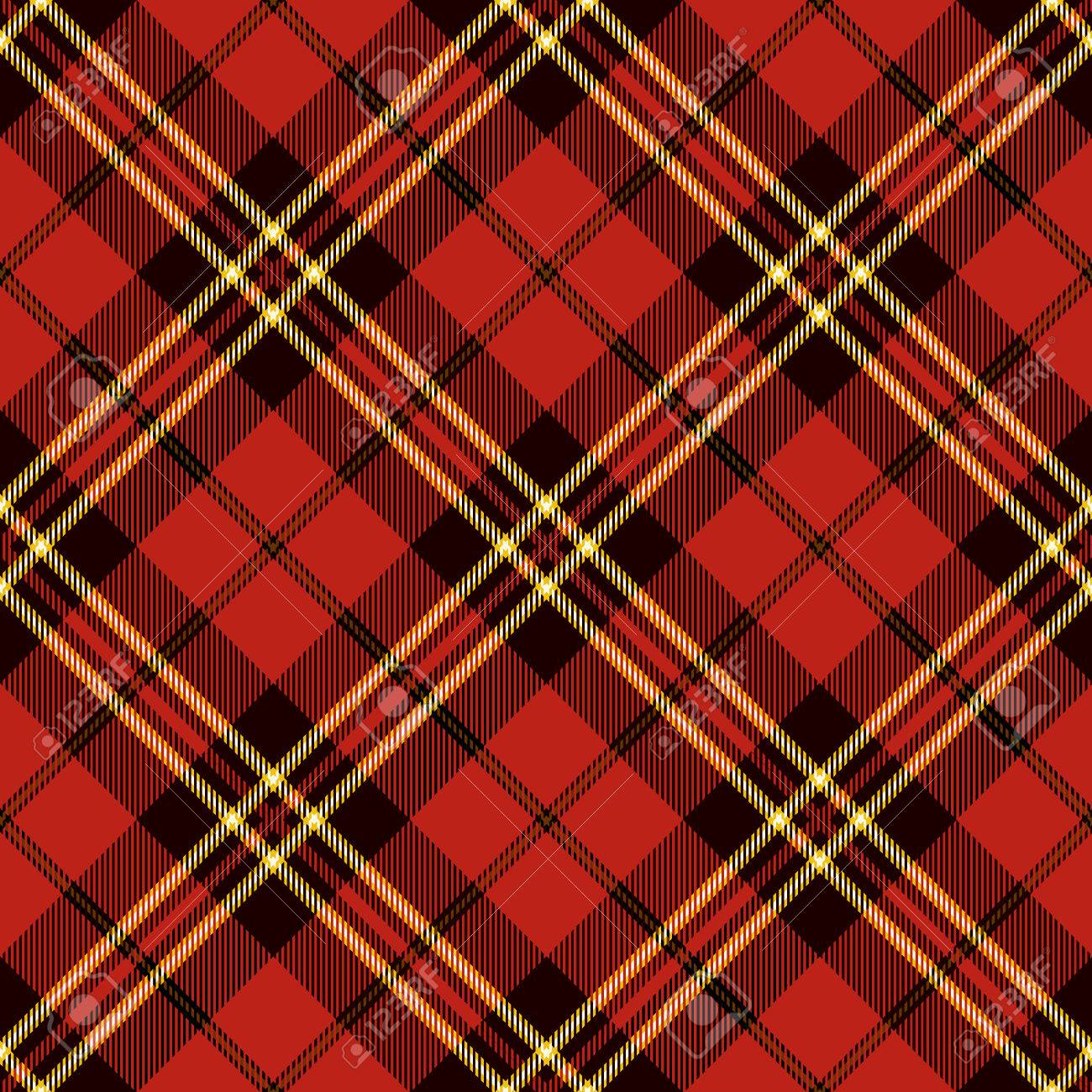 Tartan Seamless Pattern. Trendy Vector Illustration for Wallpapers. Seamless Tartan Tiles. Traditional Scottish Ornament. Tartan Plaid Inspired Background. - 66207601