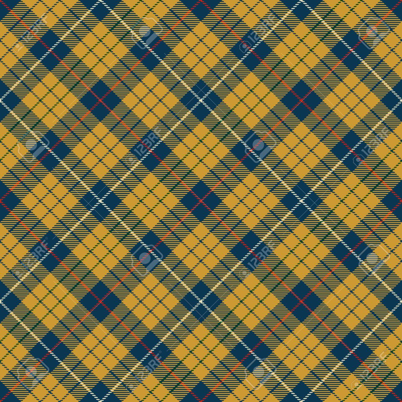 Rustic Pattern Background Red Gold Blue And White Plaid Tartan Flannel Shirt