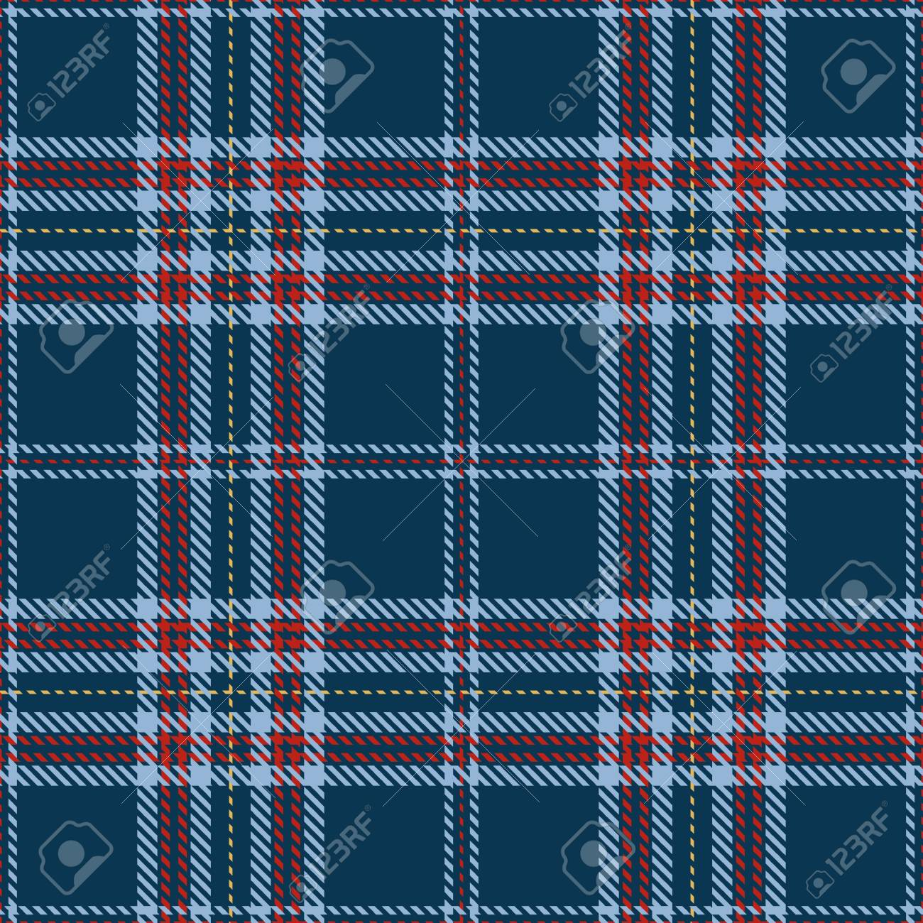 Elegant checkered Seamless Pattern Background. Red, Blue and Gold Plaid, Tartan Flannel Shirt Patterns. Trendy Tiles Vector Illustration for Wallpapers. - 73904403