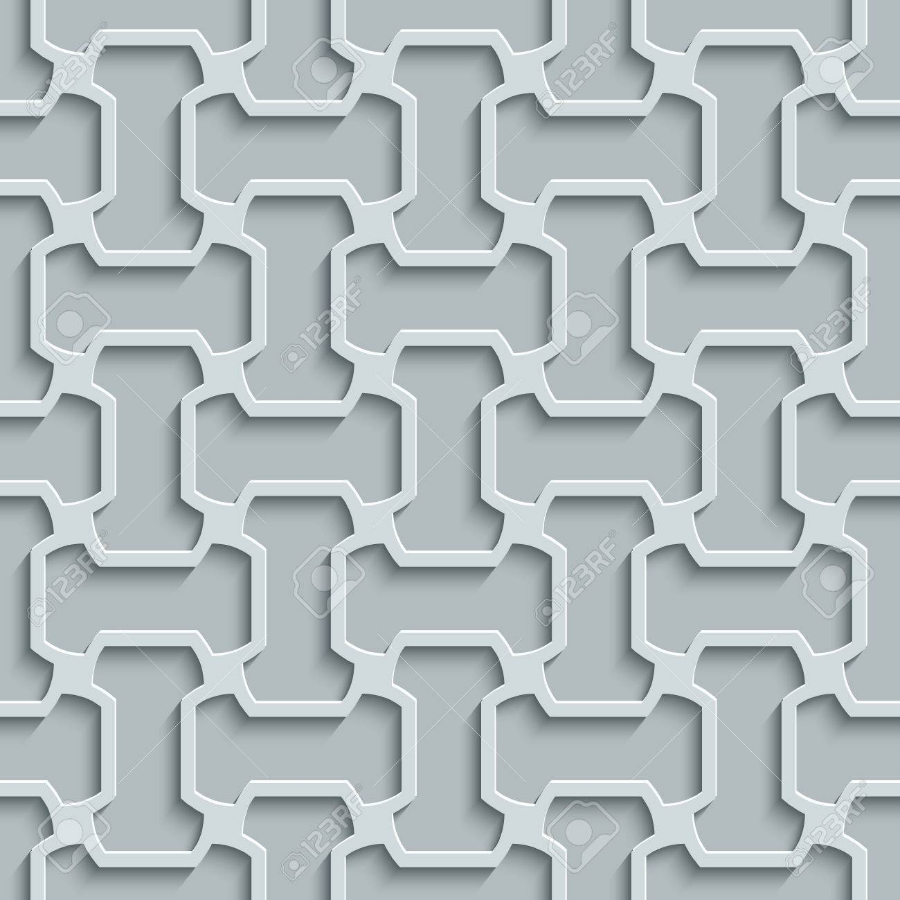 Seamless Abstract Geometric Pattern 3d Grey Tile Surface Frame