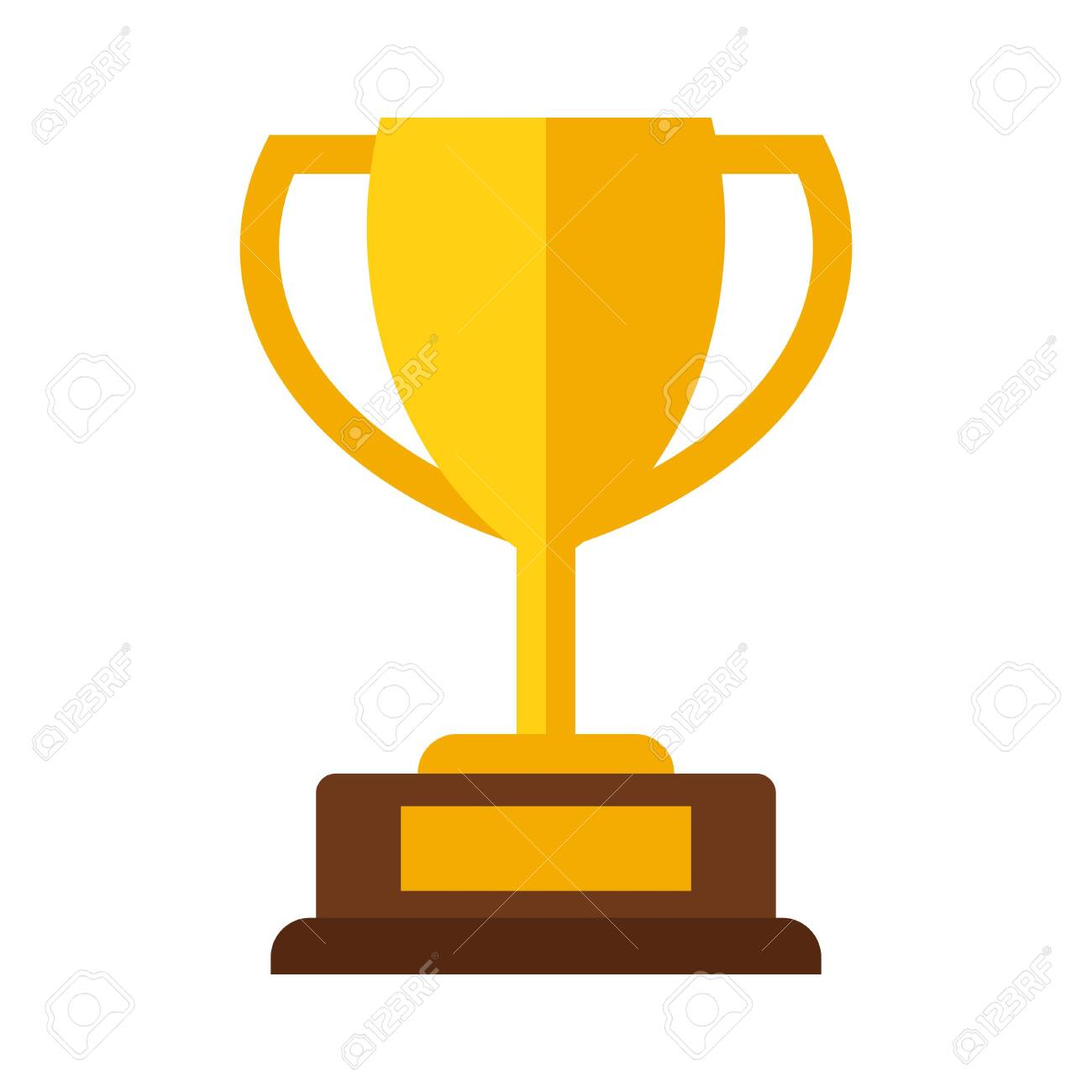 Golden champions cup award icon isolated on white background. Winner trophy vector illustration - 157522450
