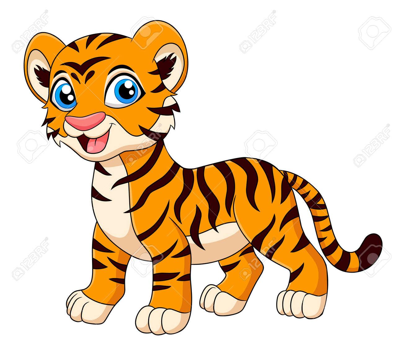 Cute Tiger animal cartoon vector illustration - 168293546