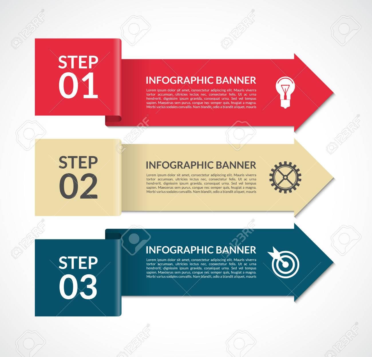 Vector Flechas De Infografía. Plantilla De Diseño Para La Web ...