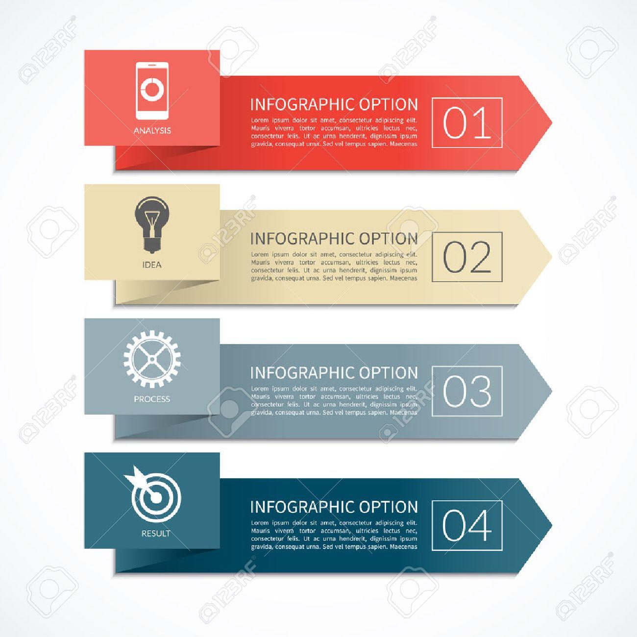 Assez Flèche Bannière Infographique. Modèle De Conception Pour Le  DR09