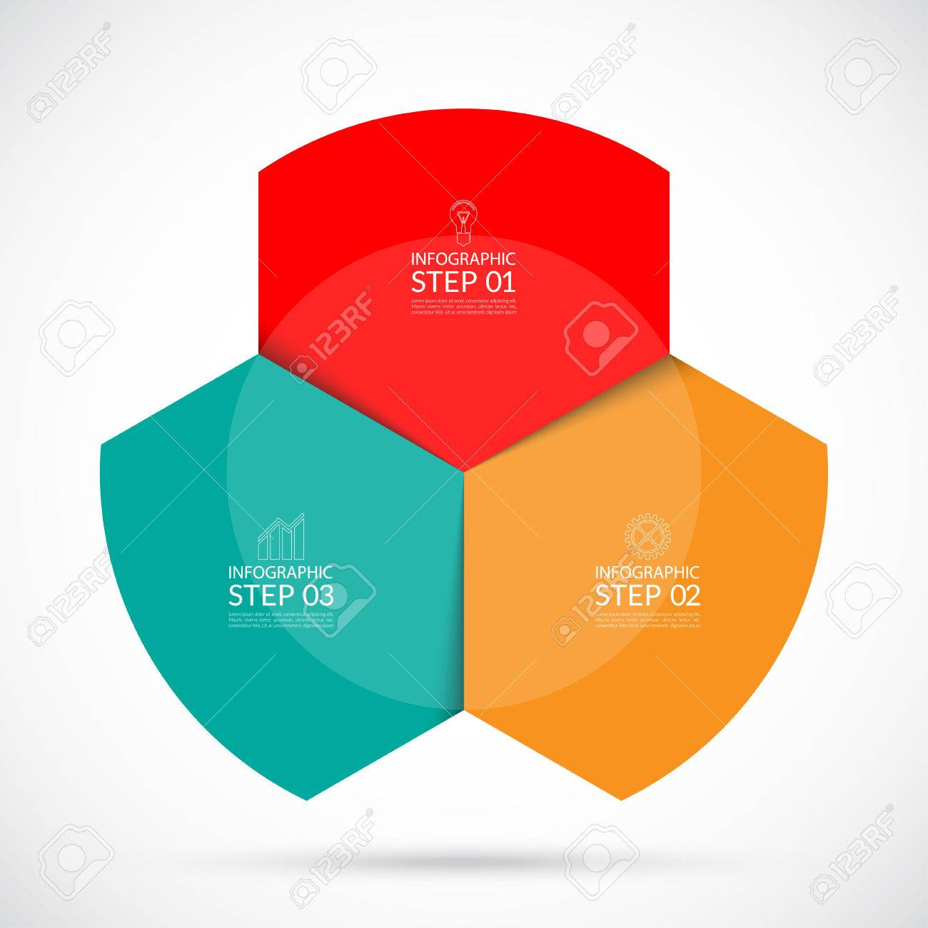 infographic circular template can be used for web diagram