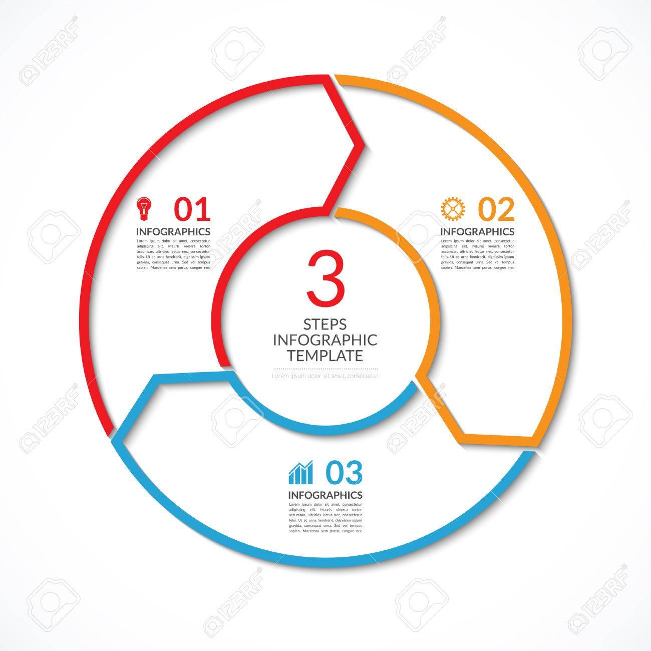 Infografik Kreisschablone. Einfache Vektor-Konzept Banner Mit 3 ...