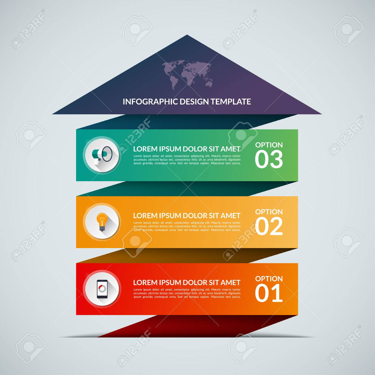 up arrow infographic template business growth concept banner