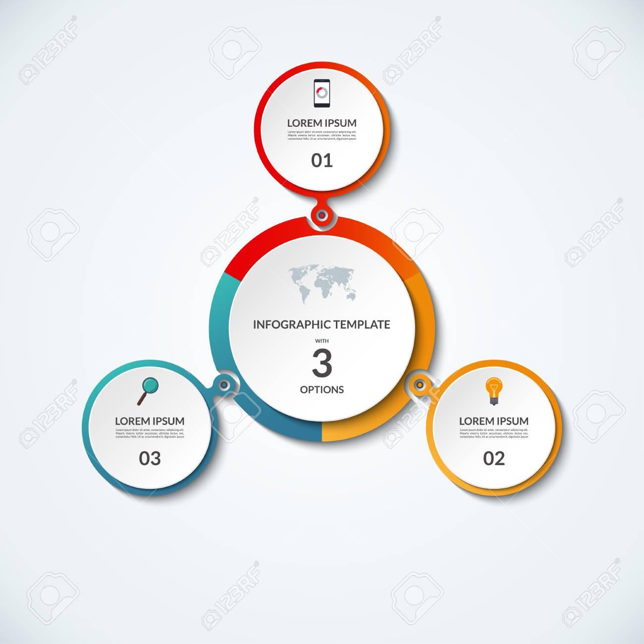 Infografik Banner Mit 3 Optionen. Kreisförmige Vorlage, Die Als ...