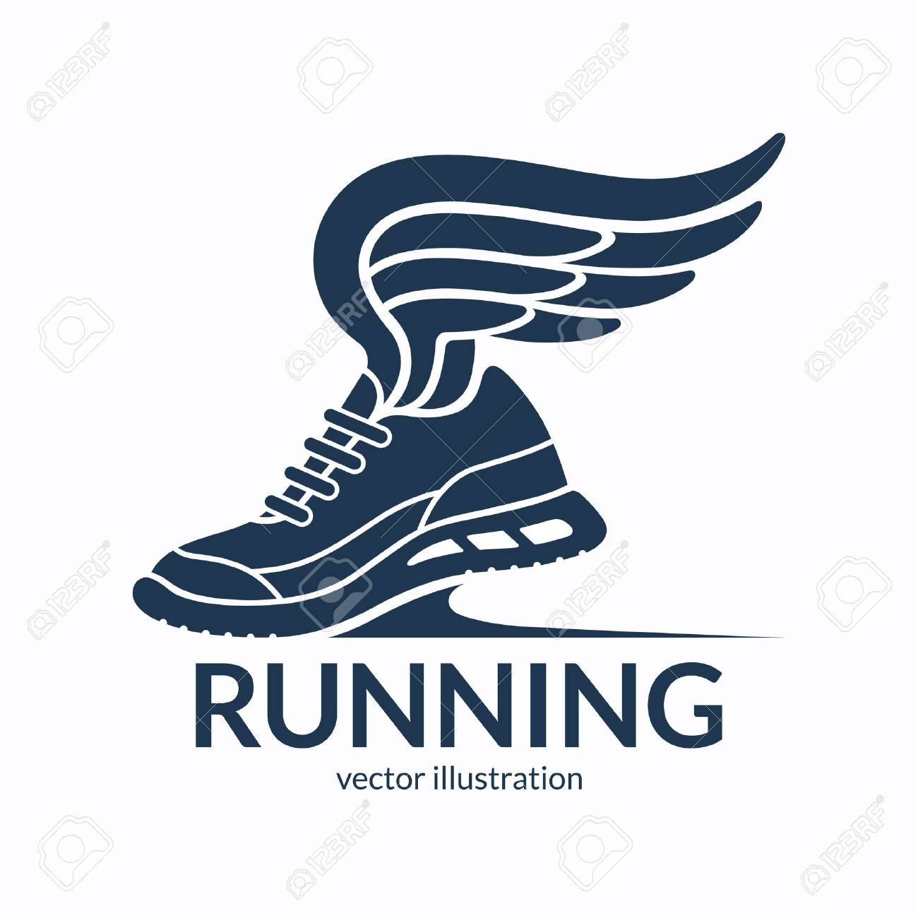Speeding Running Shoe Symbol 2a888b1fa