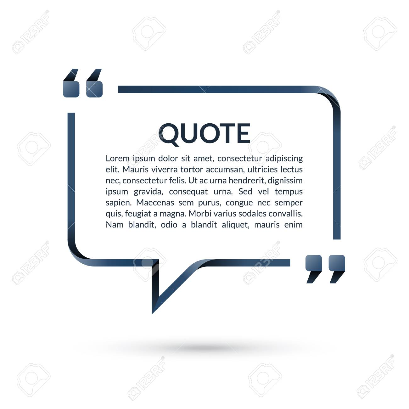 Quote Box. Speech Bubble. Blank Frame For Citations. Text In ...