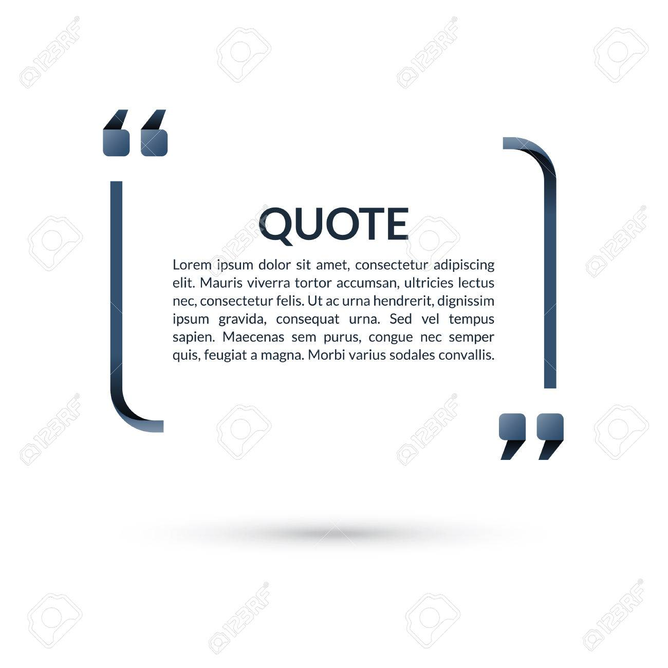 quote box speech bubble blank frame for citations text in