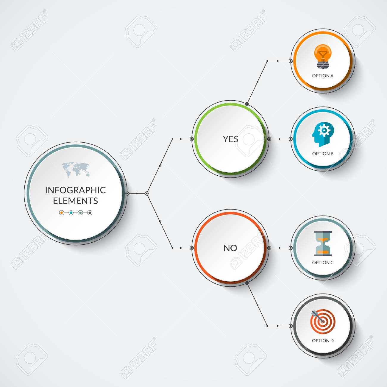 infographic template with 4 options modern minimalistic vector rh 123rf com branching tree diagram template tree branch