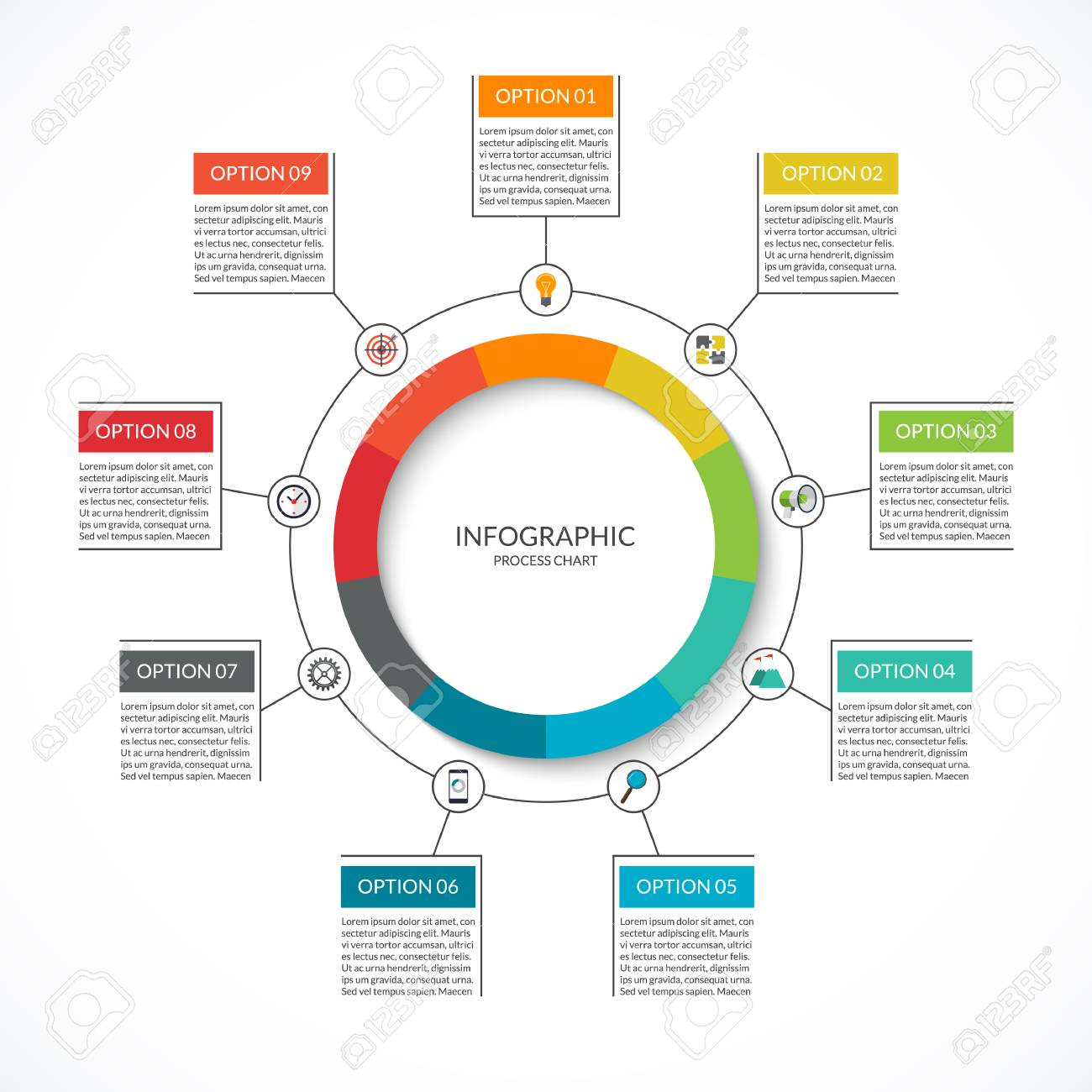 Info graphic cycle diagram process chart with 9 options vector info graphic cycle diagram process chart with 9 options vector circle template for ccuart Gallery