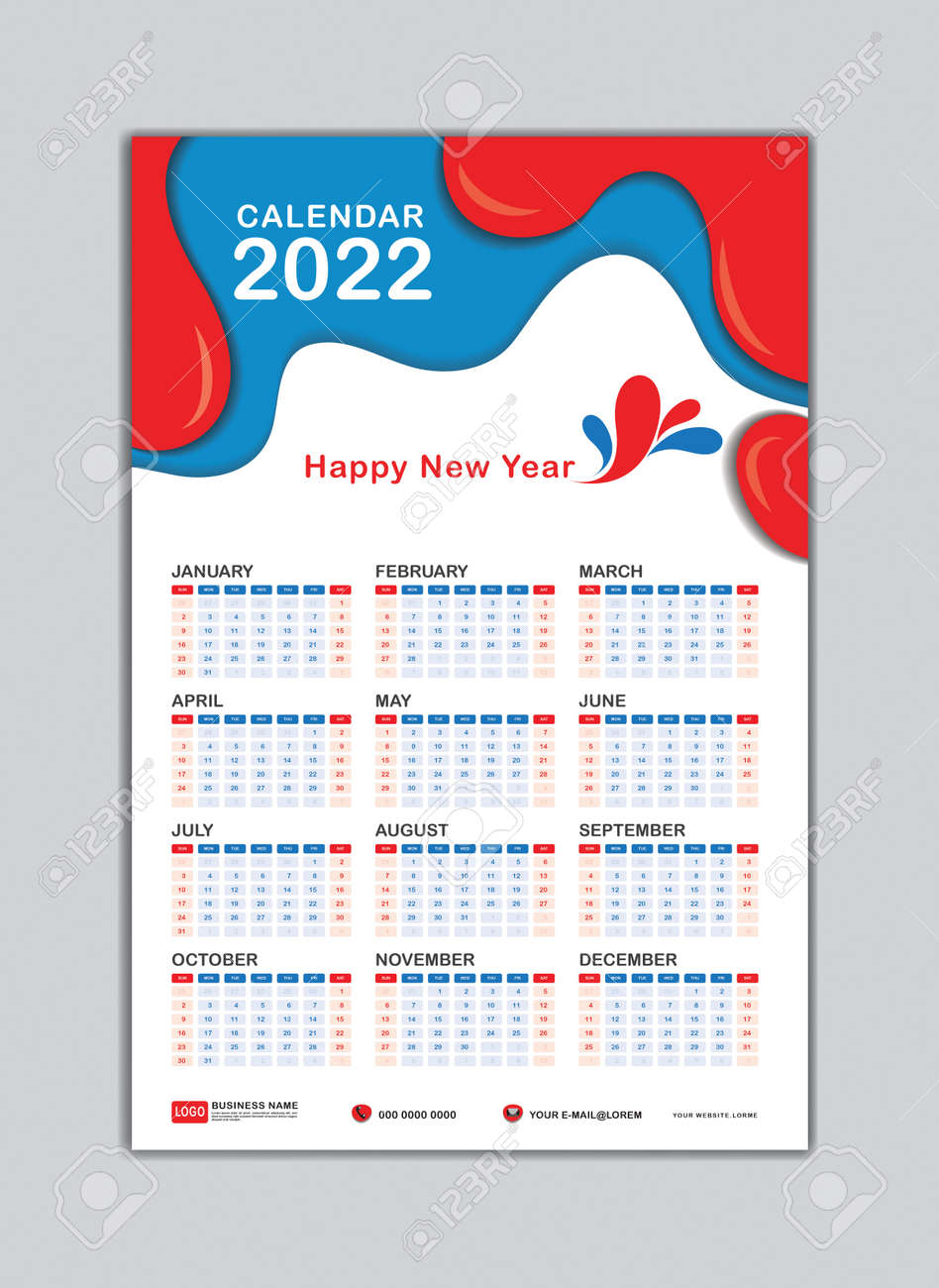 Free 2022 Wall Calendar By Mail.Wall Calendar 2022 Template Desk Calendar 2022 Template Calendar Royalty Free Cliparts Vectors And Stock Illustration Image 160899451