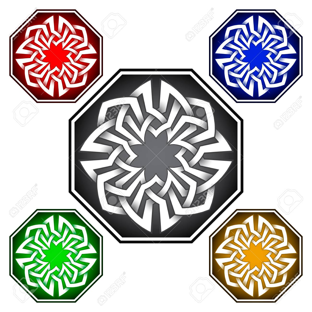 Octagonal Icon Template In Celtic Knots Style Stylish Tattoo
