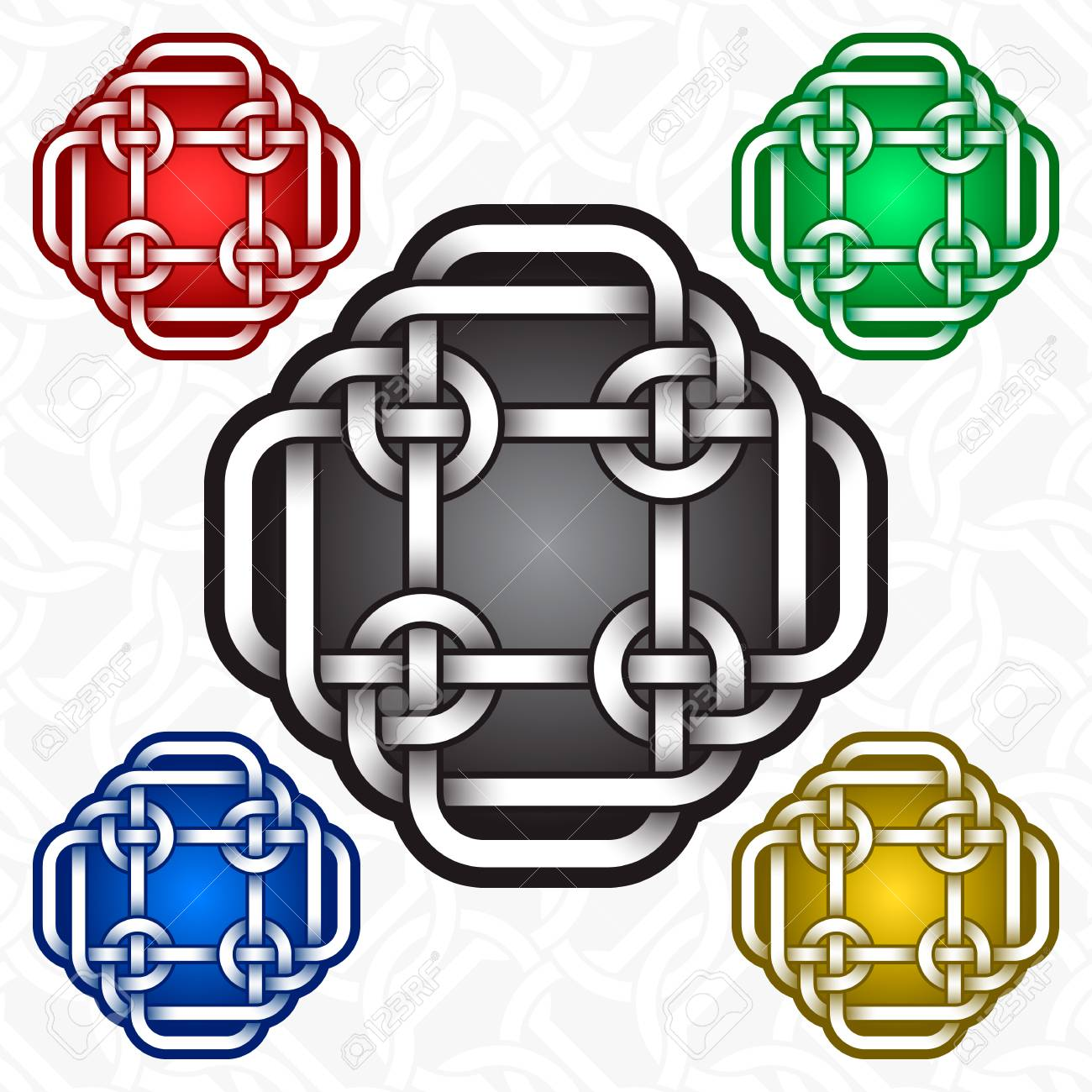 Cruciform Icon Template In Celtic Knots Style Tribal Tattoo