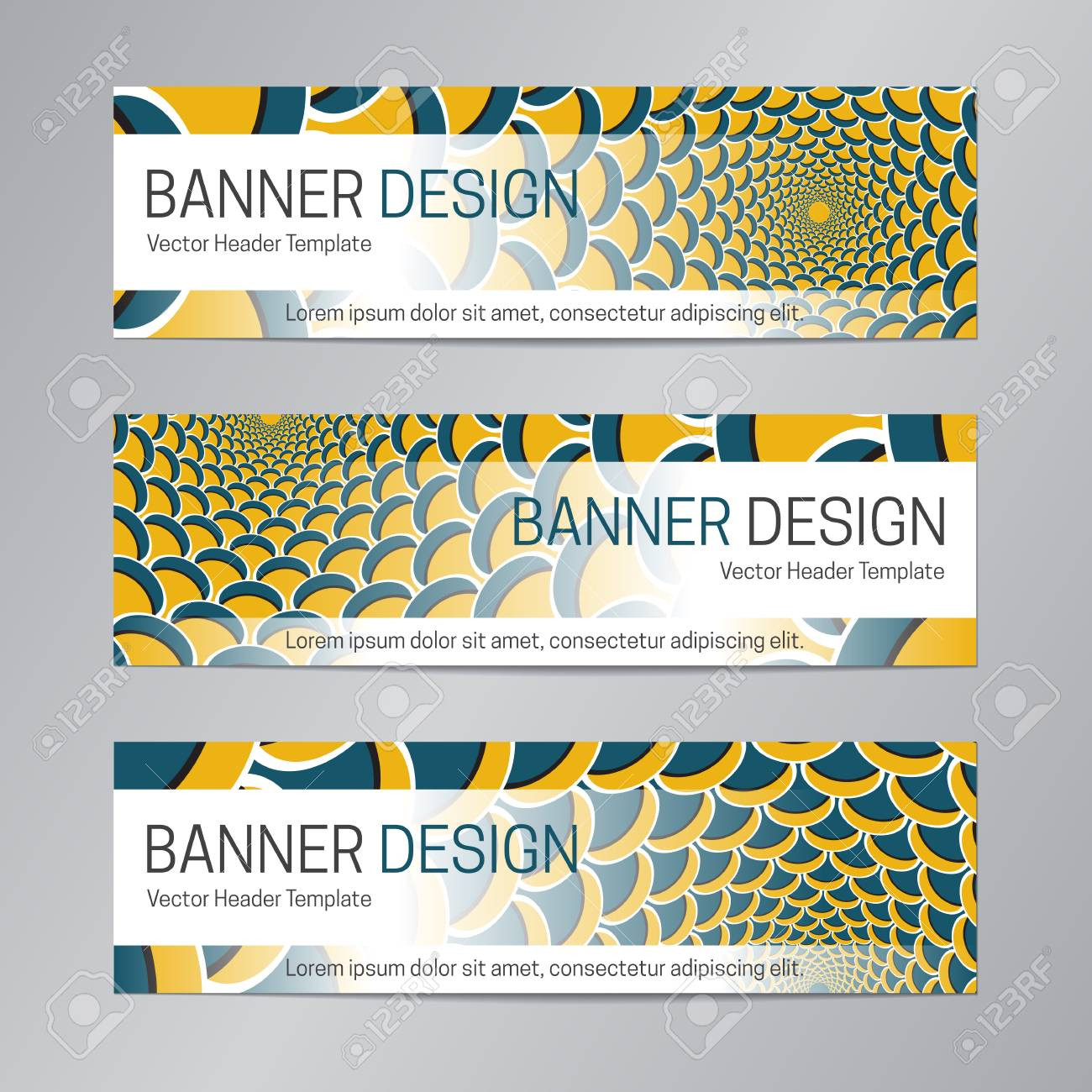 blue yellow website header design abstract banner template royalty