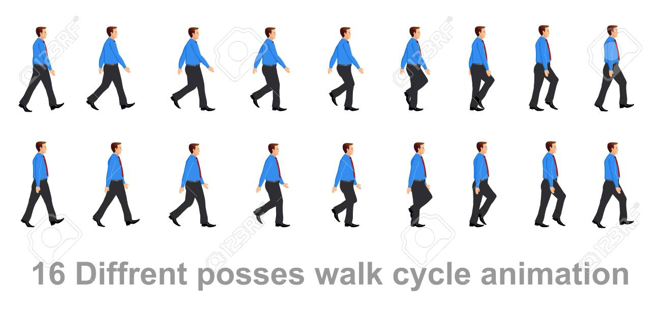 business man walk cycle animation sheet royalty free cliparts vectors and stock illustration image 107751396 business man walk cycle animation sheet