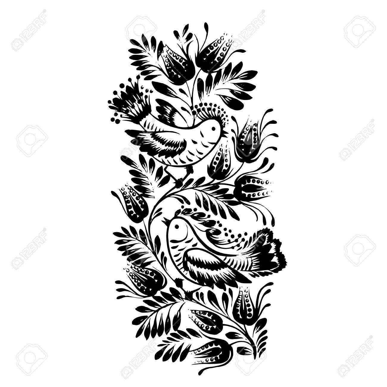 vector, artistic, decorative silhouette in grunge style Stock Vector - 26010673