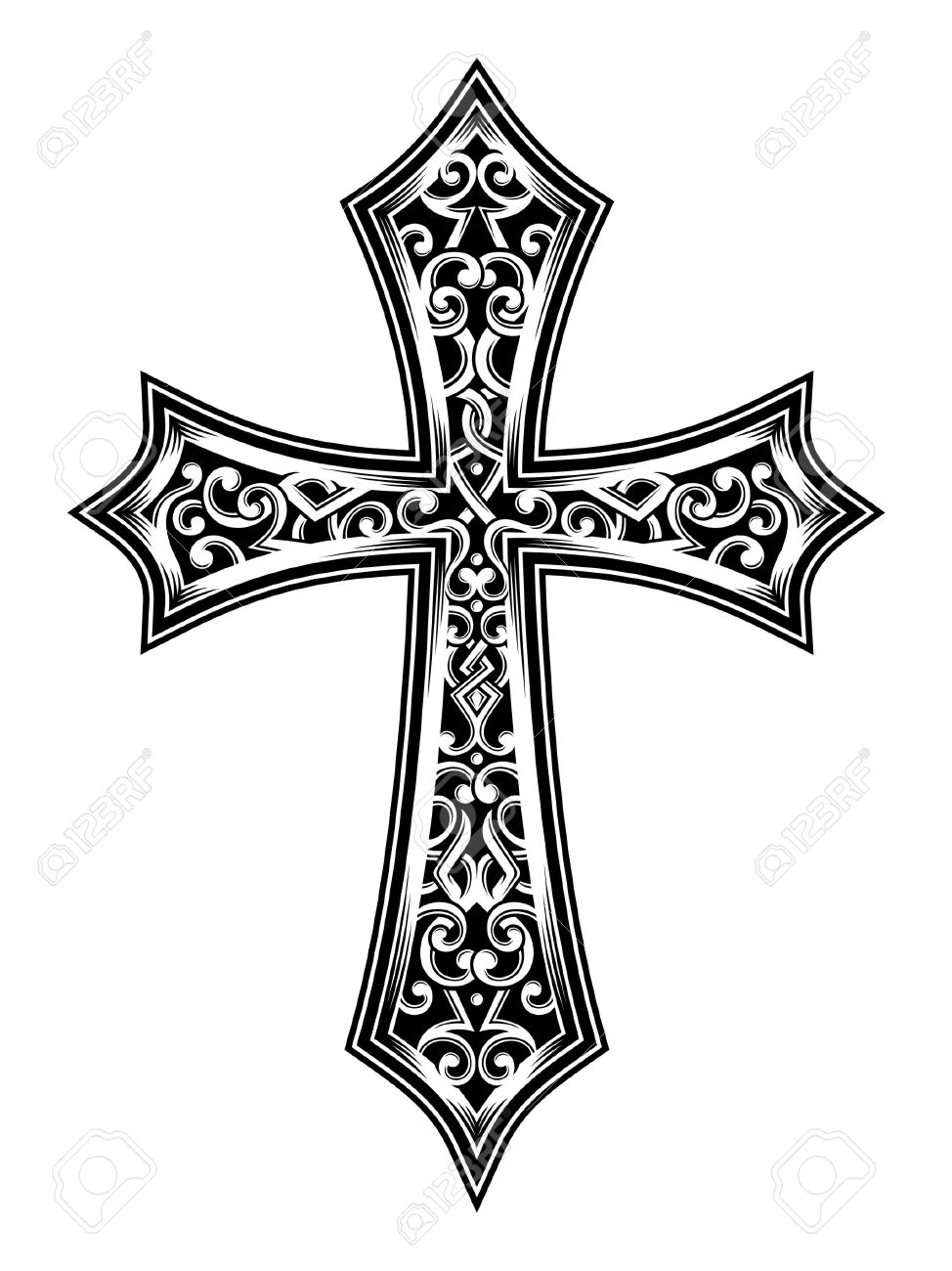 Vector illustration of carved cross image suitable for printing vector illustration of carved cross image suitable for printing on a t shirt biocorpaavc Gallery