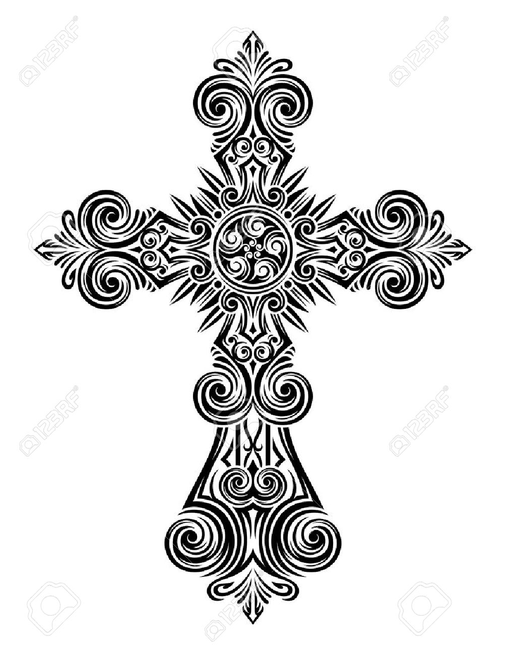 T-shirt logo design - Vector Fully Editable Illustration Of Vintage Cross Image Suitable For Logo Design Elements Printing On A T Shirt As Well As For All Types Of Printing