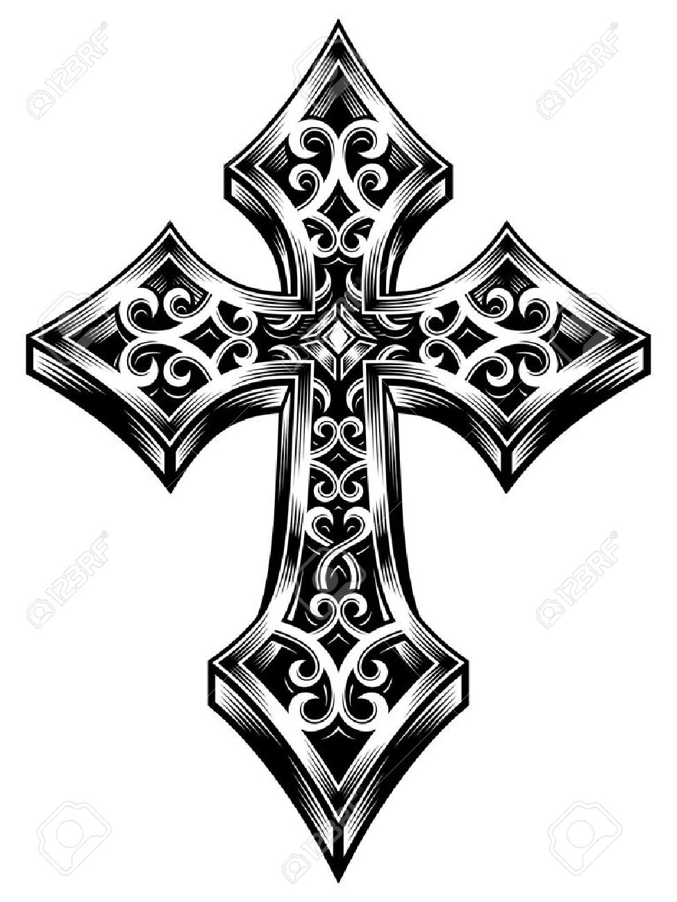 Ornate Celtic Cross Vector Royalty Free Cliparts, Vectors, And ...