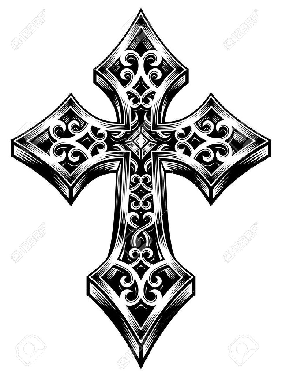 Orne Croix Celtique Vecteur Clip Art Libres De Droits Vecteurs Et