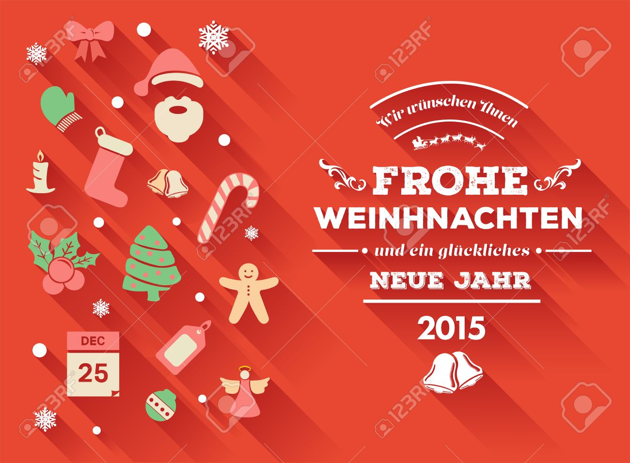 Digitally Generated Frohe Weihnachten Message With Christmas ...