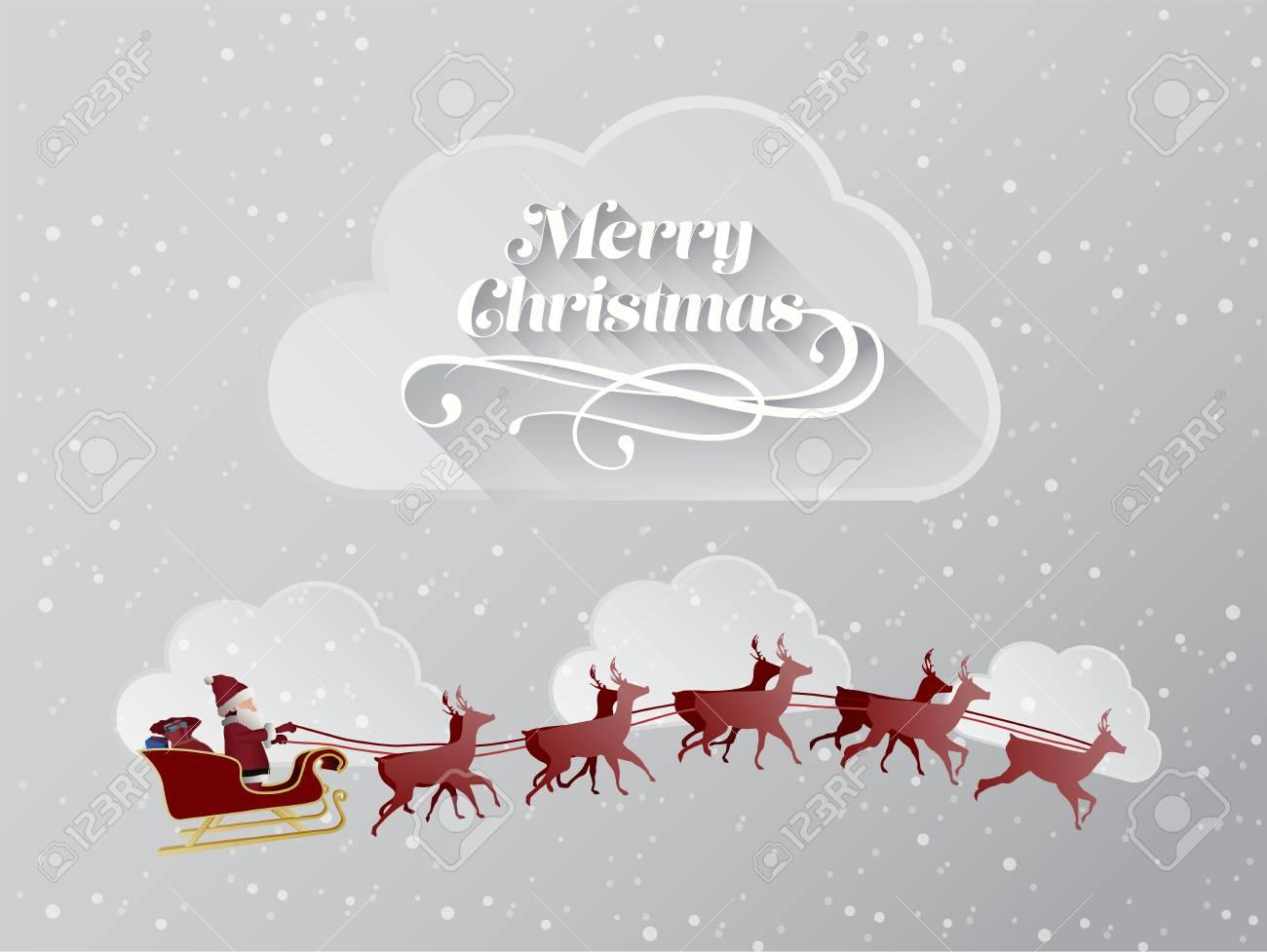 Digital Generiert Weihnachten Begrüßung Mit Fliegenden Weihnachts ...