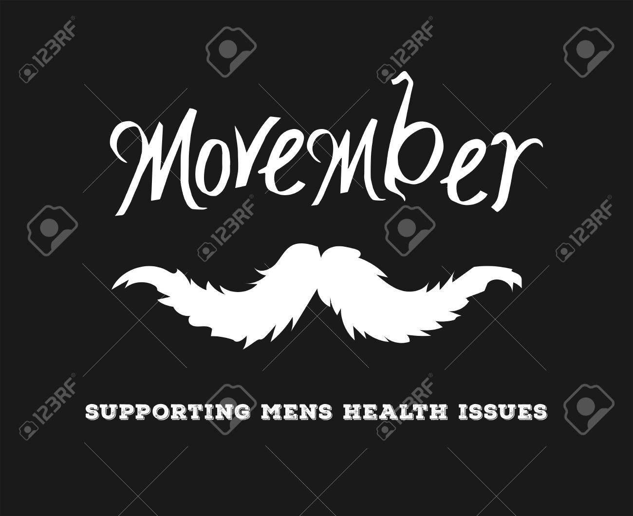 Digitally generated Movember advertisement vector with text and graphic Stock Vector - 38008751