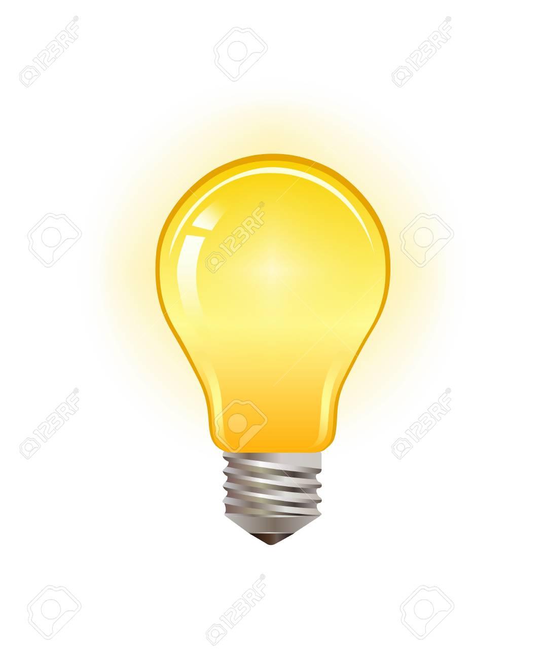Digitally generated Light bulb vector Stock Vector - 38095864